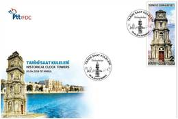 TURKEY / 2018 - (FDC) HISTORICAL CLOCK-TOWERS (ISTANBUL), MNH - 1921-... Republic
