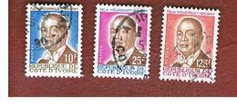 COSTA D'AVORIO (IVORY COAST) - SG 890.897 -   1986 PRESIDENT HOUPHOUET-BOIGNY  -  USED ° - Costa D'Avorio (1960-...)