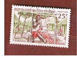 COSTA D'AVORIO (IVORY COAST) - SG 256 -   1965 NATIVE HANDICRAFTS: WEAVER -  USED ° - Costa D'Avorio (1960-...)