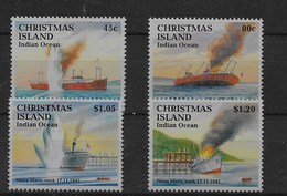 Serie De Christmas Nº Yvert 369/72 ** BARCOS (SHIPS) - Christmas Island