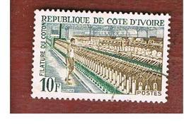 COSTA D'AVORIO (IVORY COAST) - SG 300 -   1968 INDUSTRIES: COTTON LOOM   -  USED ° - Costa D'Avorio (1960-...)