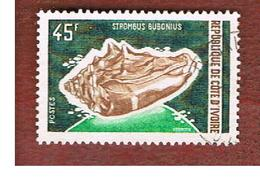 COSTA D'AVORIO (IVORY COAST) - SG 364   -   1972  MARINE LIFE: SHELLS (SEA SNAIL) -  USED ° - Costa D'Avorio (1960-...)