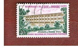 COSTA D'AVORIO (IVORY COAST) - SG 387   -   1972 STAMP DAY: POSTAL CENTER -  USED ° - Costa D'Avorio (1960-...)