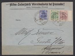 Polen MiF 102,103,132 Auf Firmenbrief O Wierzchoslawice Pow Jnowroclawski/15.10.19 Nach Gartz/Oder - ....-1919 Übergangsregierung