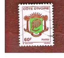 COSTA D'AVORIO (IVORY COAST) - SG 434   -   1976 ARMS: ELEPHANT' S HEAD  -  USED ° - Costa D'Avorio (1960-...)