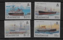 Serie De Monserrat Nº Yvert 550/53 ** BARCOS (SHIPS) - Montserrat