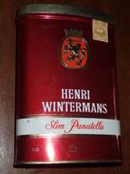 Boite Ovale En Tole Henri WINTERMANS - Slim Panatella Par 50. - Contenitori Di Tabacco (vuoti)