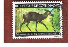 COSTA D'AVORIO (IVORY COAST) - SG 575   -   1979 ENDANGERED ANIMALS: DUIKER -  USED ° - Costa D'Avorio (1960-...)