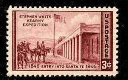 1946 USA Kearney Expedition Stamp Sc#944 Historic Famous Horse National Flag - Celebrations