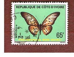 COSTA D'AVORIO (IVORY COAST) - SG 586  -   1979 BUTTERFLIES: PSEUDACRAEA  -  USED ° - Costa D'Avorio (1960-...)