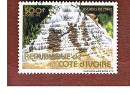 COSTA D'AVORIO (IVORY COAST) - SG 753  -   1982 LANDSCAPES: MAN WATERFALL 500   -  USED ° - Costa D'Avorio (1960-...)
