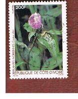 COSTA D'AVORIO (IVORY COAST) - SG 882  -   1986  PLANTS: COSTUS AFER    -  USED ° - Costa D'Avorio (1960-...)
