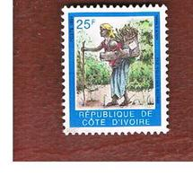 COSTA D'AVORIO (IVORY COAST) - SG 1106 -   1994  WOMAN WITH BASKET    -  USED ° - Costa D'Avorio (1960-...)