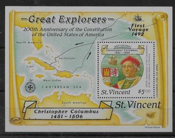 Hoja Bloque De San Vicente Nº Yvert HB-41 ** BARCOS (SHIPS) - St.Vincent (1979-...)