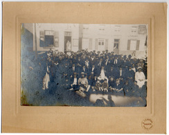 CHARLEROI NORD 1925 FETE DES QUATRE CHEMINS Photo Groupe Café - Photographie Foto - Lieux