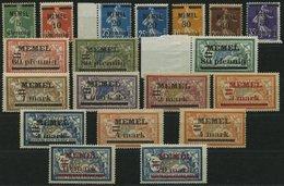 MEMELGEBIET 18-33 **,* , 1920, Freimarken, Meist Postfrisch, Prachtsatz - Memelgebiet