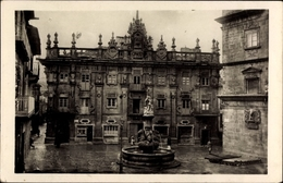 Cp Santiago De Compostela Galicien Spanien, Fuente De Cervantes, Brunnen - Spagna