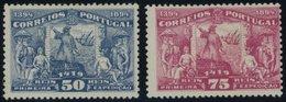 PORTUGAL 101/2 *, 1894, 50 Und 75 R. Heinrich Der Seefahrer, Starke Falzreste, 2 Werte Feinst, Mi. 120.- - Portugal