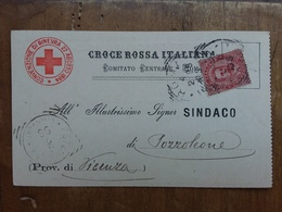 REGNO - Cartolina Ricevuta Croce Rossa + Spese Postali - 1878-00 Umberto I