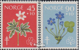 Norwegen Mi.-Nr.: 438-439 (kompl.Ausg.) Postfrisch 1960 Tuberkulose - Norwegen