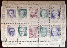 South Africa 1996 Nobel Laureates Sheetlet MNH - South Africa (1961-...)