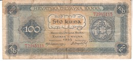 4607  100  KUNA   1943 - Croacia