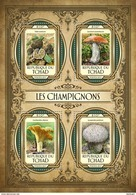CHAD 2017 - Mushrooms - YT 1787-90; CV=20 € - Funghi