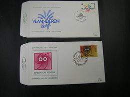 """BELG.1988 2277 & 2278 FDC's : """" Dynamiek Van De Gewesten / Dynamique Des Régions """" - 1981-90"""