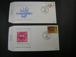 """BELG.1988 2277 & 2278 FDC's (Evergem) : """" Dynamiek Van De Gewesten / Dynamique Des Régions """" - 1981-90"""