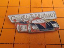 313j PIN'S PINS / Rare & Belle Qualité ! / Thème : AUTOMOBILE / VOITURE ENDURANCE 24H DU MANS CREDIT MUTUEL Qui Gaspille - Rallye