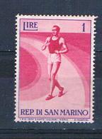 San Marino 345 MNH Walking Racer 1954 (ML0344)+ - San Marino