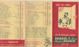 Adolphe Delhaize, Publicité 1957. - Publicités