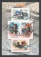 Burundi 2012 Kleinbogen Mi 2461-2464B MNH BICYCLE SPORTS - Vélo