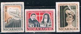 Nicaragua C516-18 Used Set St Vincent De Paul CV 1.00 (N0384)+ - Nicaragua
