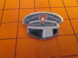 313i Pin's Pins / Beau Et Rare : Thème POLICE / AMICALE POLICE ST LÔ CASQUETTE DE MANCHOT !! - Police