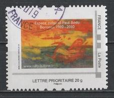 Timbre Personnalisé : Espace Culturel Paul Bédu Boronah 1910 - 2010 à Milly-la-Forêt. - France