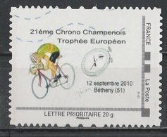 Timbre Personnalisé : 21ème Chrono Champenois Trophée Européen à Bétheny En 2010. - France