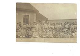 Carte Photo - Groupe Soldats - Campement Couteau - 1912 - Reims 132eme De Ligne 7e Cie Caserne Neuchatel - - Characters