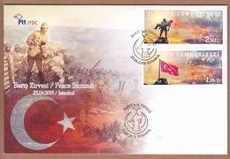 AC - TURKEY FDC - PEACE SUMMIT CENTENARY OF GALLIPOLI WAR MNH Istanbul, 23 APRIL 2015 - 1921-... República