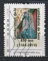 Timbre Personnalisé : Consécration De La Cathédrale De Sens Pour Les 850 Ans ( 1164 - 2014 ). - France