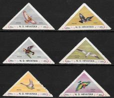 Croatie - N. D. HRVATSKA - Oiseaux 6 Timbres Neufs - Croatie