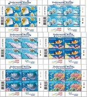 2019 HONG KONG UNDERWATER WORLD SHEETLET 6V CORAL FISH - 1997-... Chinese Admnistrative Region