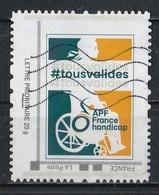 Timbre Personnalisé : APF France Handicap : Tous Valides. - France