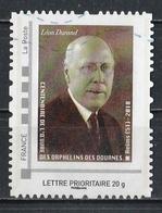 Timbre Personnalisé : Centenaire De L'oeuvre Des Orphelins Des Douanes De Reims 2018 ( Léon DURAND ). - France
