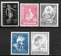 Trieste Zone B - Yougoslavie - 1949 à 1953 - 5 Timbres Neufs - Autres