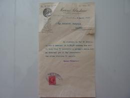 """Lettera Commerciale """"MARONI SEBASTIANO  - STABILIMENTI METALLURGICI Castello Di Lecco"""" 1935 - Italia"""