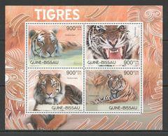 BC535 2012 GUINEA-BISSAU FAUNA WILD ANIMALS WILD CATS TIGERS TIGRES 1KB MNH - Big Cats (cats Of Prey)