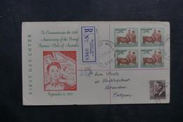 AUSTRALIE - Enveloppe FDC En 1953 ( Jeunes Fermiers ) En Recommandé Pour La Belgique - L 37975 - Premiers Jours (FDC)