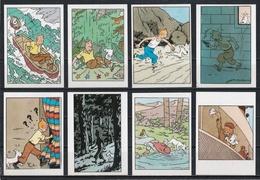 Petit Lot De 8 Vignettes Tintin Et Milou. - Autocollants