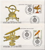 Germany Set On 4 FDCs From 1981 - Sciences